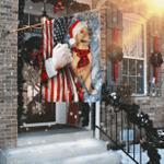 Golden Retriever Through The Snow Flag