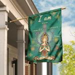 I Am Devine Connected Expressive Loved Strong Creative Safe Yoga Flag