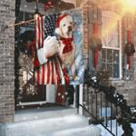 Labrador Retriever Through The Snow Flag