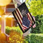 Silver Labrador Retriever American Patriot Flag