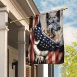 German Shepherd American U.S. Flag