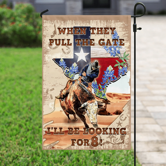 Texas Bull Riding Flag