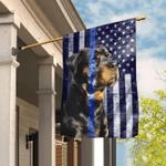 Rottweiler. The Thin Blue Line Flag