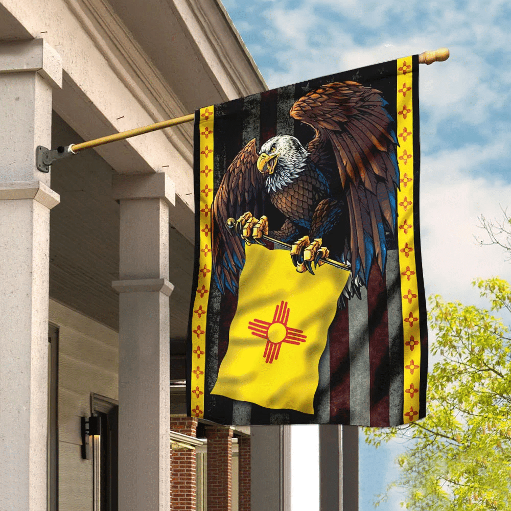 New Mexico State Eagle Flag