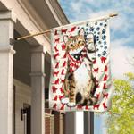 Cat Kitty Kitten 4th Of July Flag