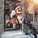 Dog Corgi Through The Snow Flag