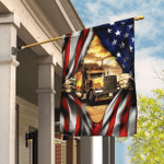 Proud Truck Driver American Flag