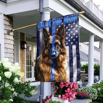 German Shepherd Back The Blue Flag