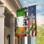 Irish And American Flag