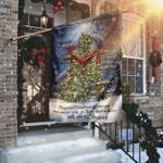 Jesus Christ The Greatest Gift Christmas Flag