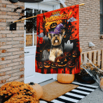 Halloween Yorkshire Flag Flagwix� Happy Halloween Yorkie Flag