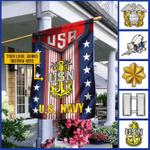 Personalized U.S. Navy Logo/Insignia Custom House/ Garden Flag