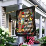 Golden Retriever Autism Awareness Flag