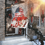 Gnomes. Let It Snow Christmas Flag