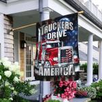Truckers Drive America Flag