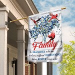 Family Like Branches On The Tree Flag