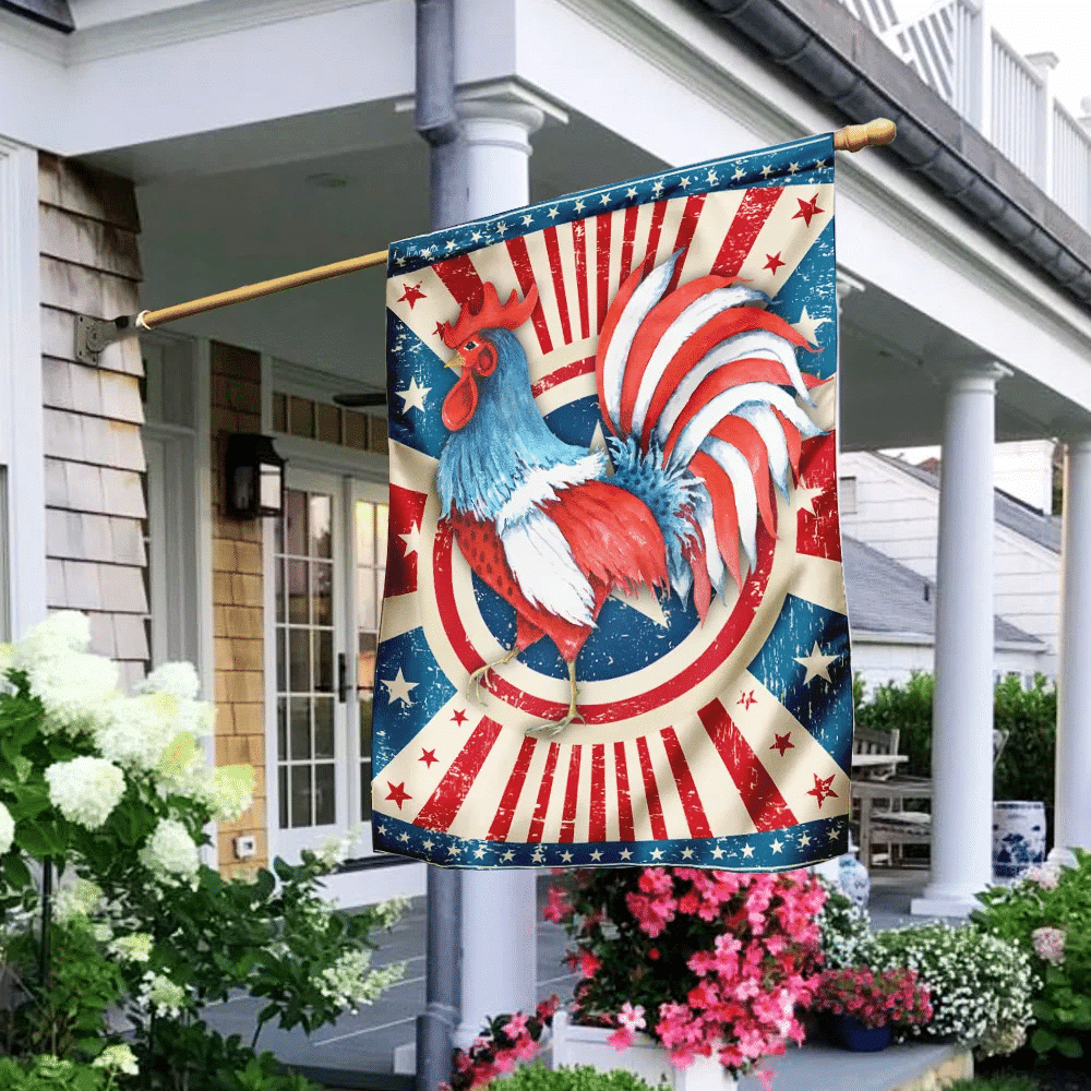 Rooster American US Flag