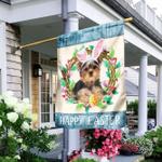 Yorkshire Terrier Easter Day Flag