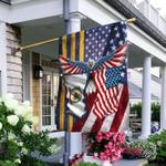 West Virginia American Flag