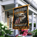 Female Veterans Day Flagwix� I Have Earned It With My Blood Sweat And Tears Flag
