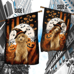 Poodle Happy Halloween Flag