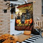 Black Cats Pumpkin Halloween Flag