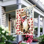 Patriotic Cat Kitten Kitty Flag
