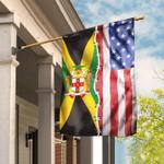 Jamaica America Flag