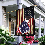 Black And White French Bulldog American Patriot Flag ANL40Fv54