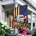 Truck Driver American Flag