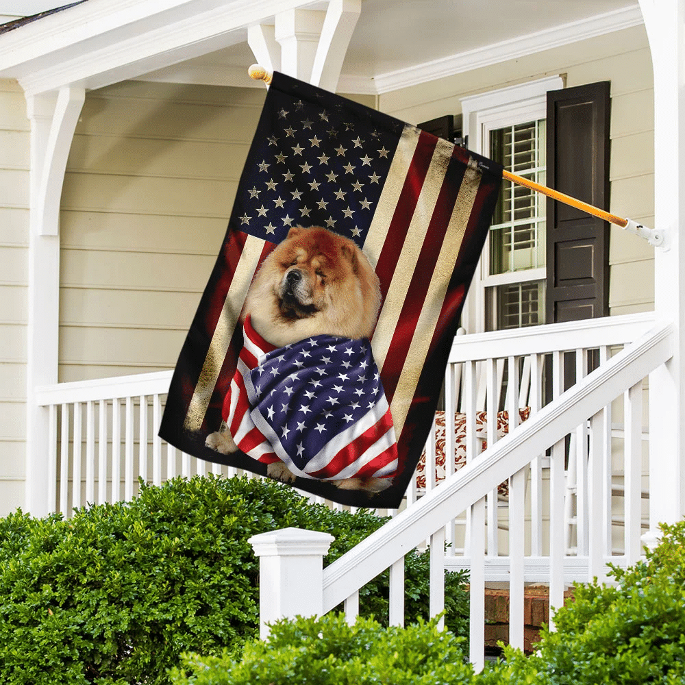 Chow Chow American Patriot Flag