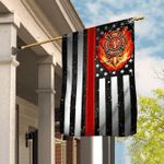 US Firefighter Flag - The Thin Red Line