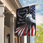 Peace Love Care Caregiver Flag