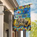 Autism Elephant Family Flag