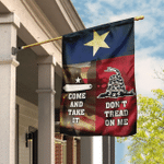 Texas. Come And Take It. Don't Tread On Me Flag