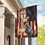 Yorkshire Terrier American US Flag