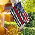 Firefighter Red Line Flag