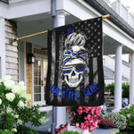 Skull Thin Blue Line Flag