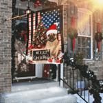 Merry Christmas French Bulldog Flag