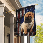 Shar Pei American Flag