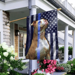Pit Bull. Police Dog. The Thin Blue Line America Flag