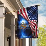 Jesus Saved My Life Christian Flag