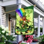 Happy Saint Patrick's Day Leprechaun v2 Flag