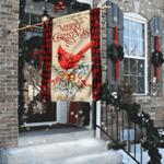 Merry Christmas Cardinal Flag