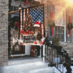 Merry Christmas Dachshund Flag