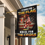 US Firefighter Flag - Stand For The Flag  Kneel For The Cross