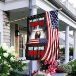 Veteran Eagle. We Owe Them All Flag