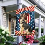 German Shepherd American US Flag