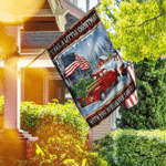 Take A Little Christmas With You. Red Truck American Flag DS08F