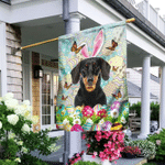 Dachshund Happy Easter Flag